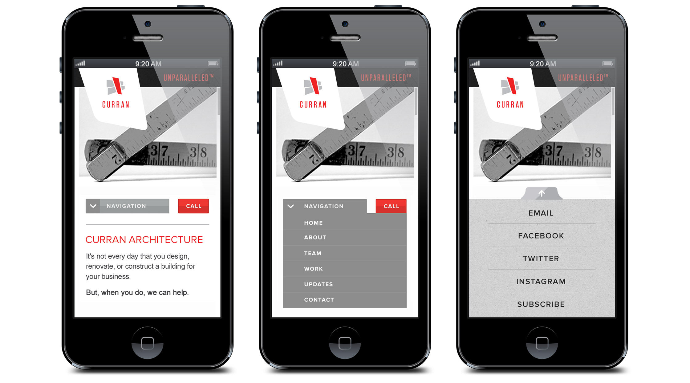 Curran Mobile Website