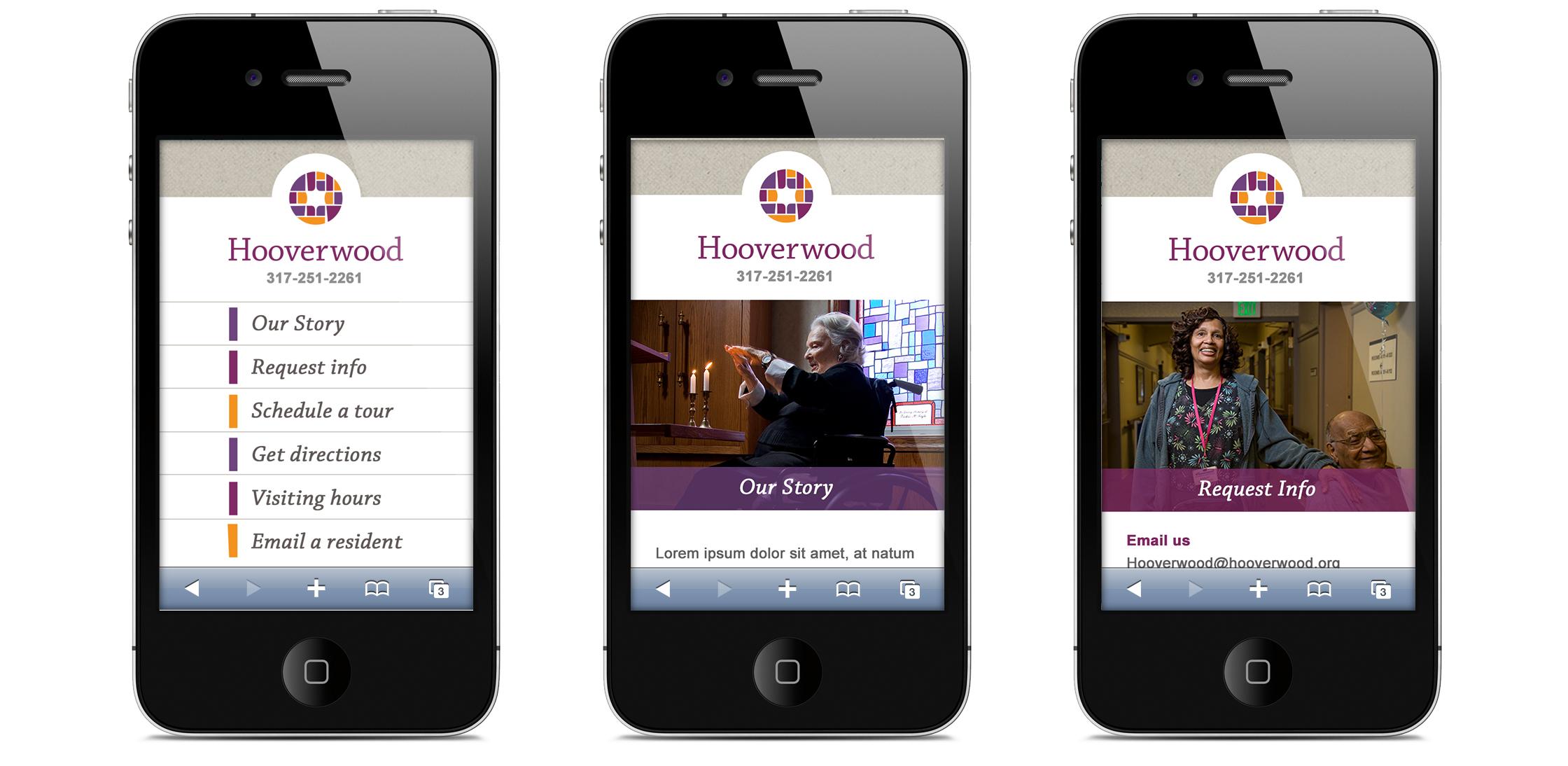 Hooverwood Mobile Website