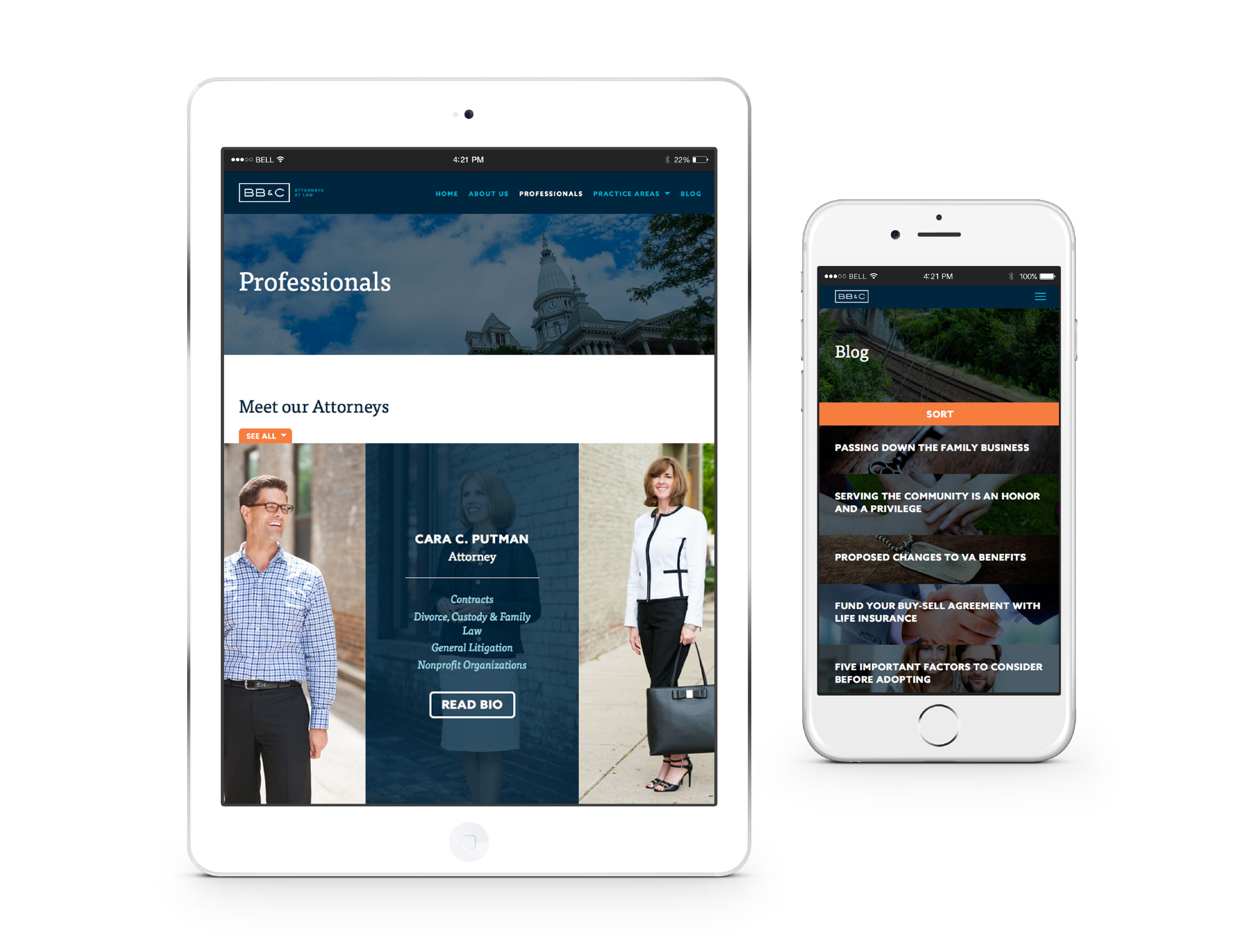 BB&C Mobile Website
