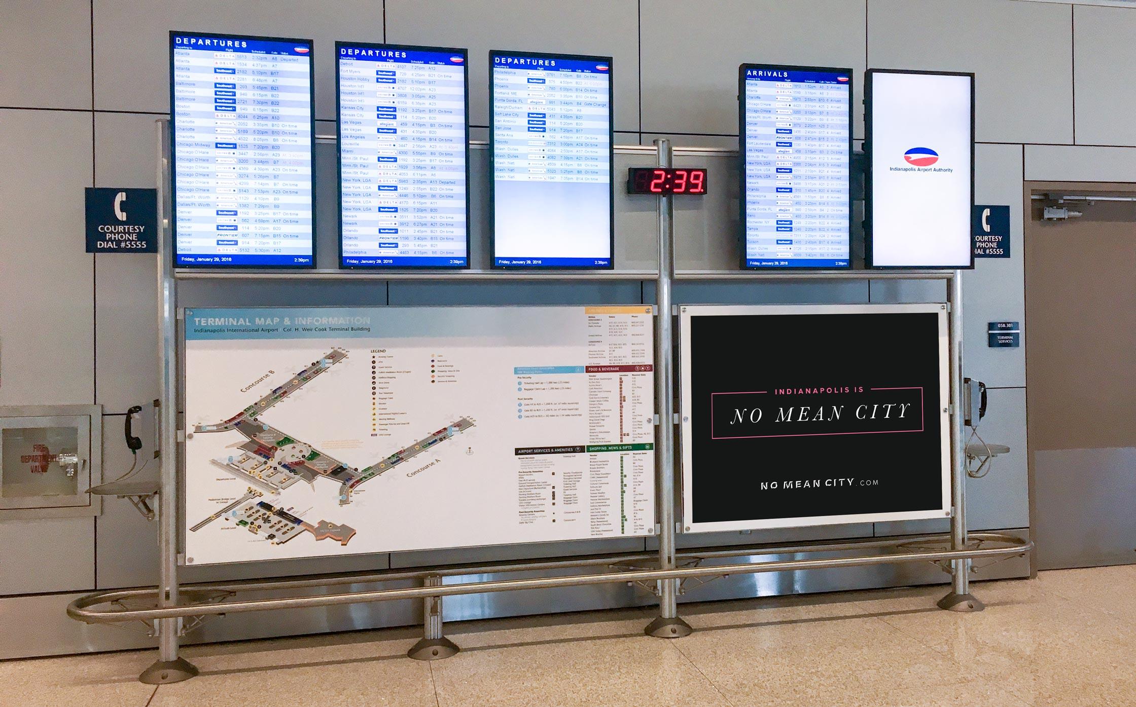 No Mean City Airport Boards