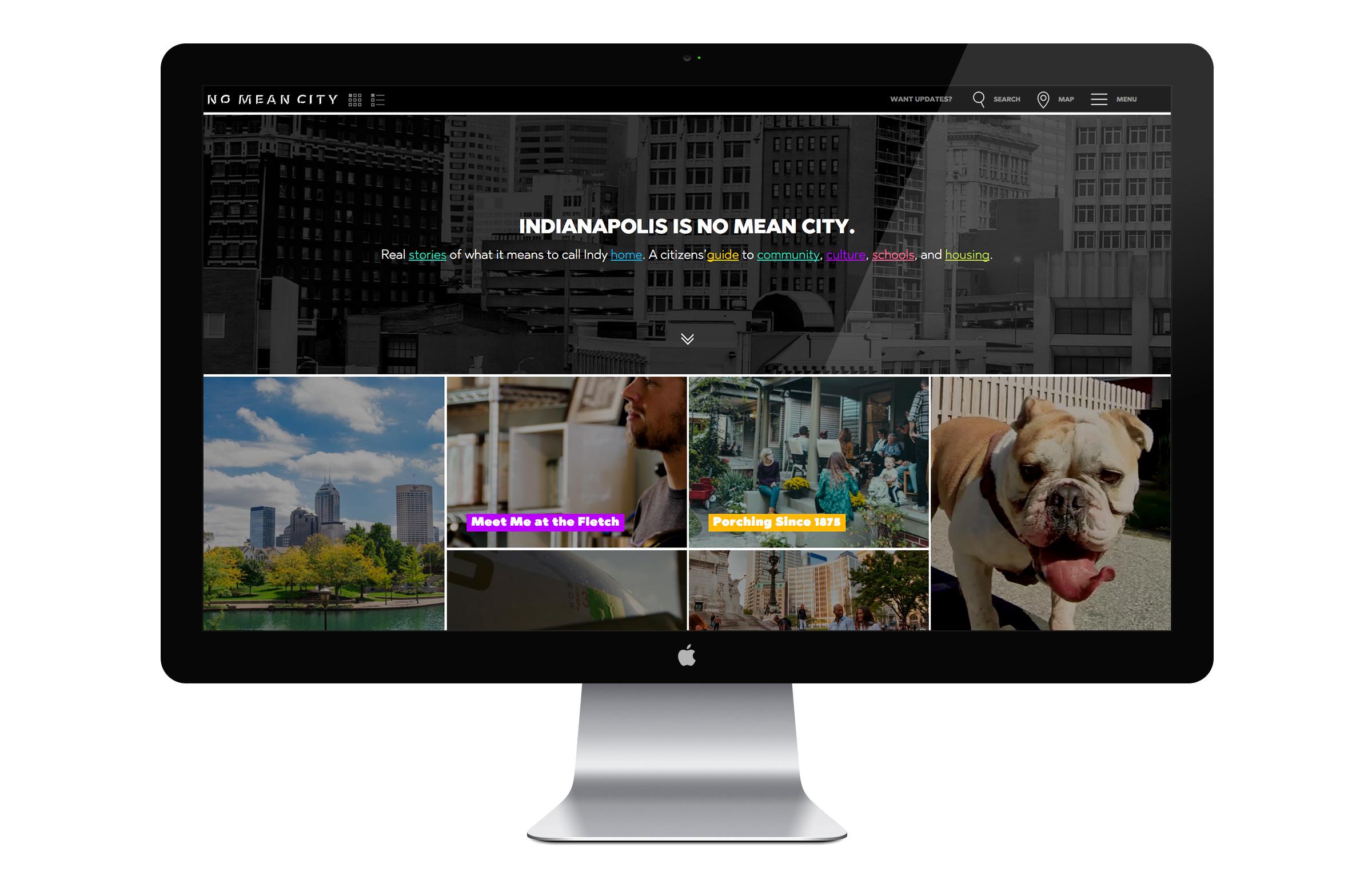 No Mean City Website - Homepage