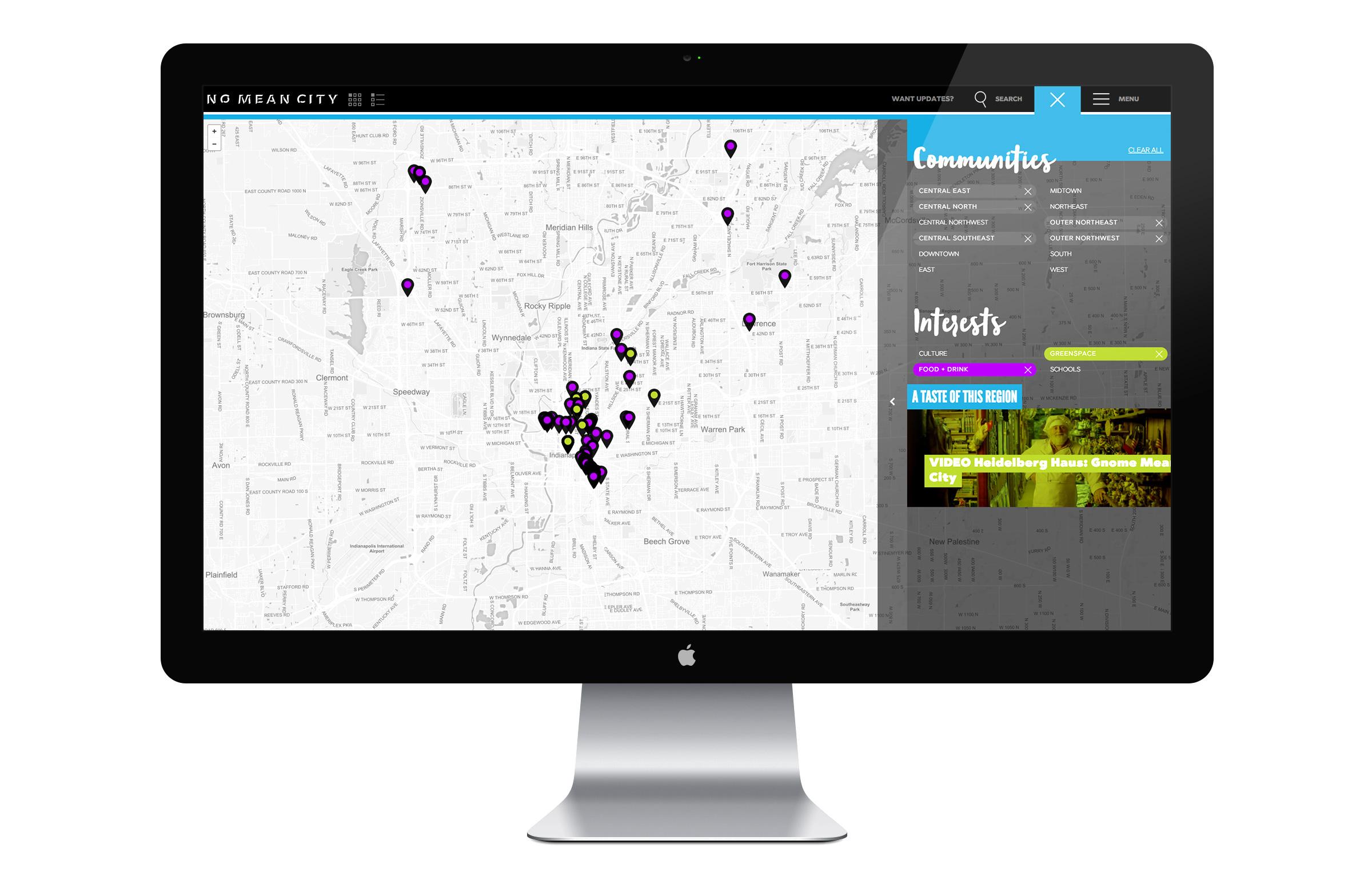 No Mean City Website - Map