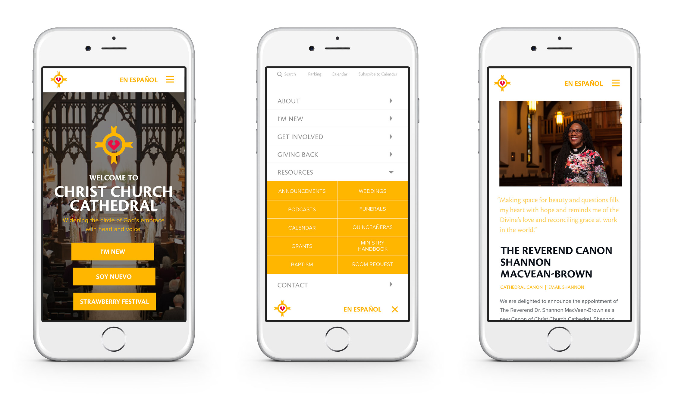 Christ Church Cathedral Responsive Website