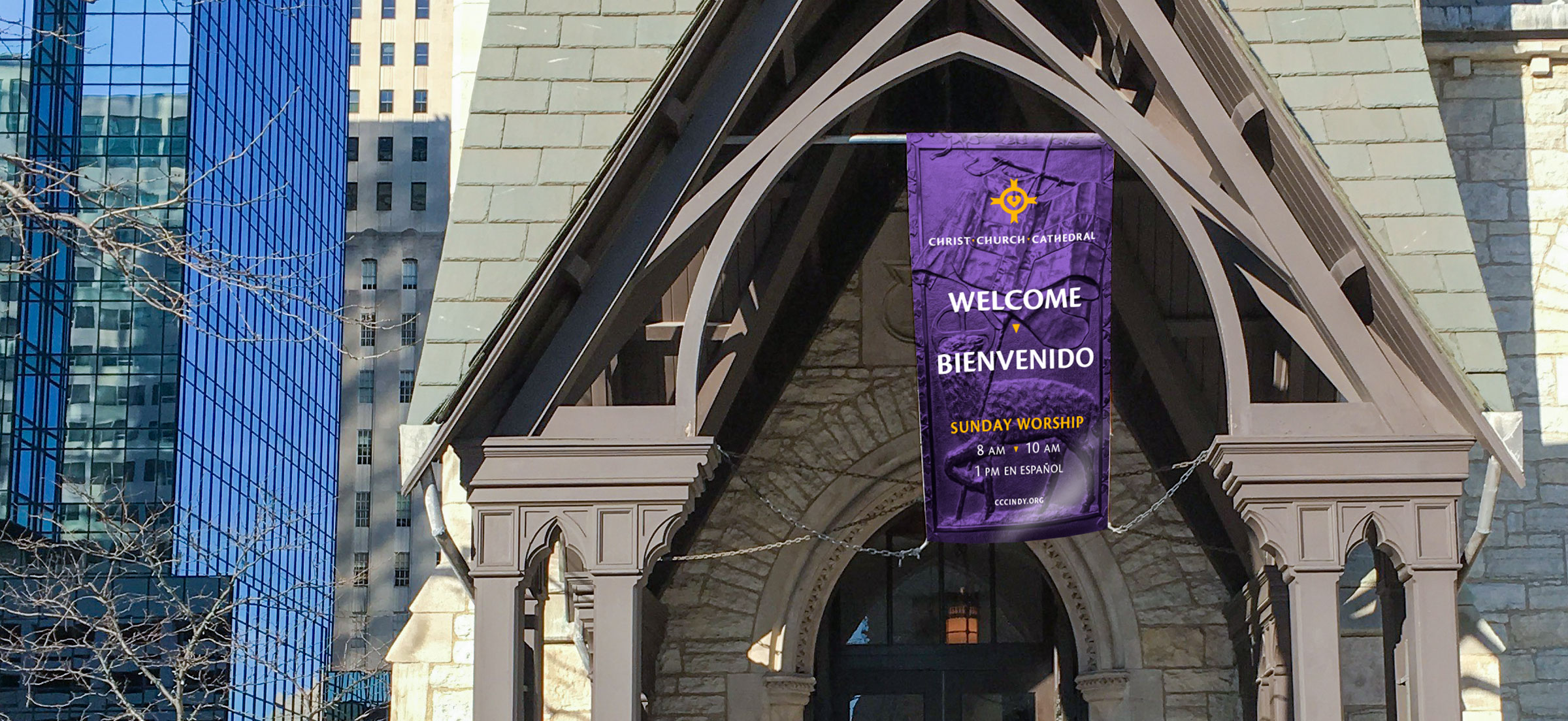Christ Church Cathedral Porch Banner