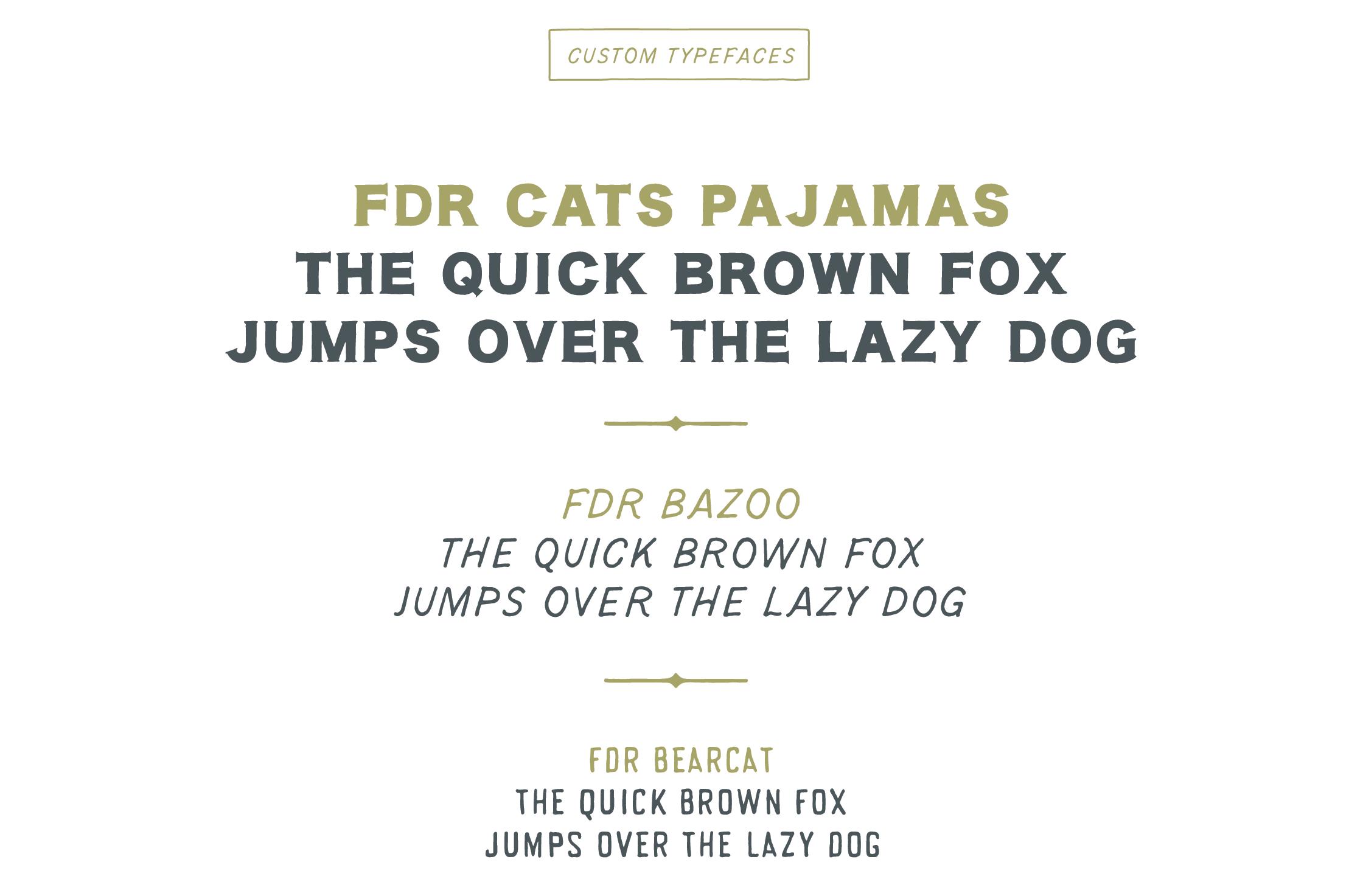 FDR Custom Fonts
