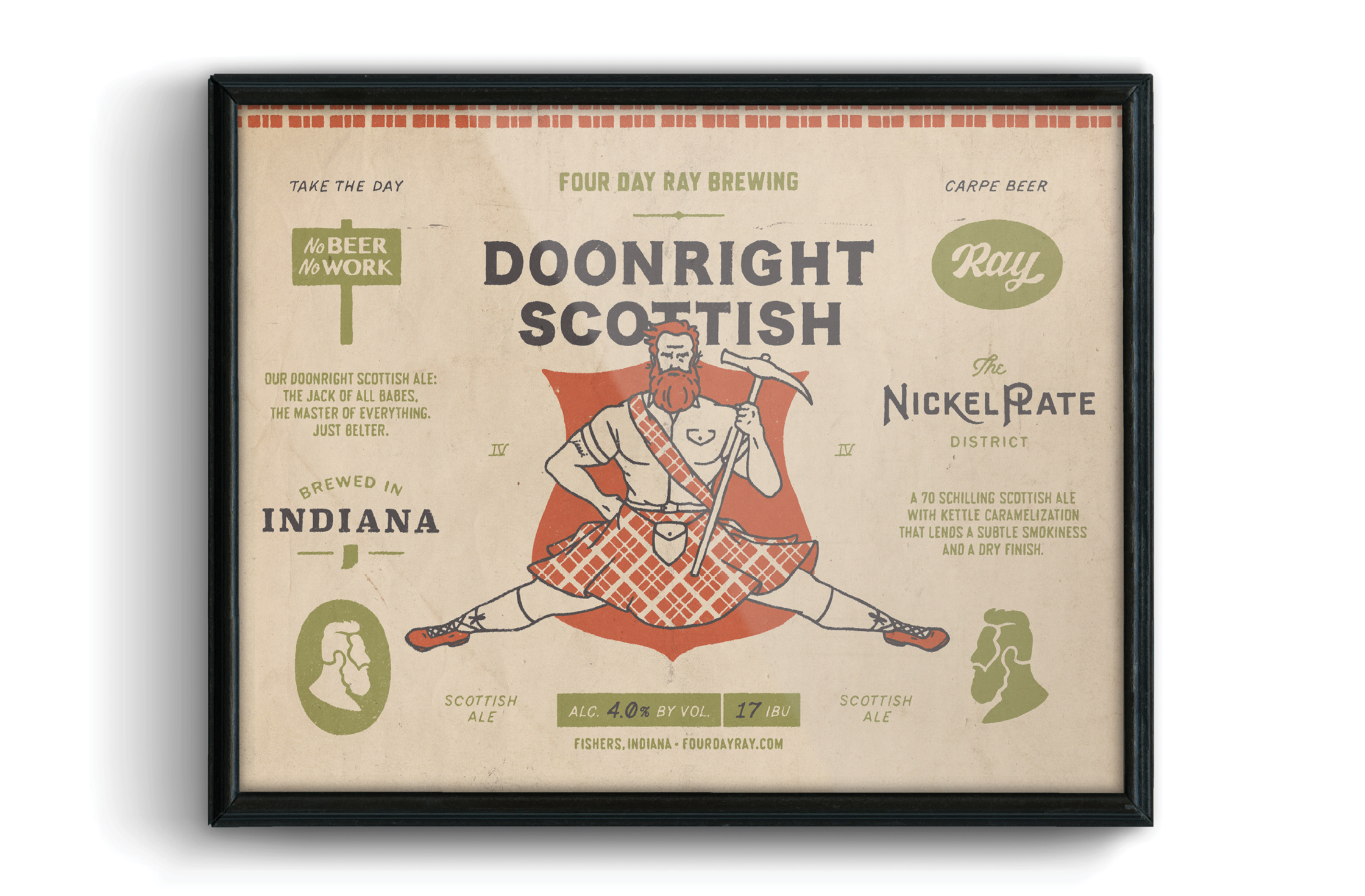 FDR Doonright Scottish Poster