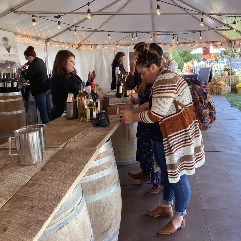 Oliver Winery at the Newfields Harvest Event